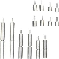 Dotworkz - RP-STANDOFFPK - Dotworkz #8-32 x 1.5 Long Aluminum Hex Standoff - Standoff Screw - 8 - 1.50 - Aluminum