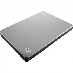 Seagate - STDS2000900 - Seagate Backup Plus Slim STDS2000900 2 TB External Hard Drive - Portable - USB 3.0 - Black, Silver