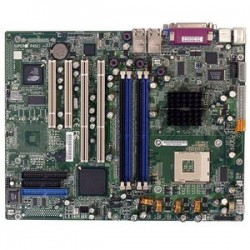 Supermicro - MBD-P4SCi-O - Supermicro P4SCi Workstation Motherboard - Intel E7210 Chipset - Socket PGA-478 - 1 x Retail Pack - 1 x Processor Support - 4 GB DDR SDRAM Maximum RAM - 400 MHz Memory Speed Supported - 4 x Memory Slots - Floppy Controller,