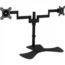 V7 - DS1FSD-1N - V7 Dual Swivel Desk Stand Mount - Up to 27 Screen Support - 17.60 lb Load Capacity - Desktop, Freestanding - Steel, Aluminum - Black