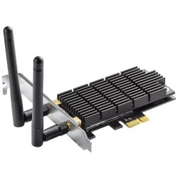 TP-LINK - ARCHER T6E - TP-LINK Archer T6E IEEE 802.11ac - Wi-Fi Adapter for Desktop Computer - PCI Express - 1.27 Gbit/s - 2.40 GHz ISM - 5 GHz UNII - Internal