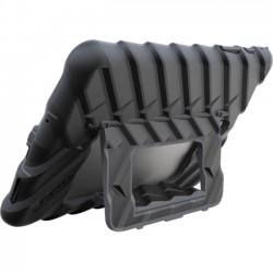 Gumdrop Cases - GS-STS297-BLK_BLK - Gumdrop Hideaway Case For Samsung Galaxy Tab S2 9.7 - Tablet - Black - Rubber