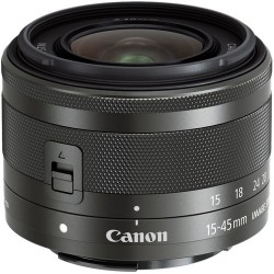 Canon - 0572C002 - Canon - 15 mm to 45 mm - f/3.5 - 6.3 - Zoom Lens for Canon EF-M - Designed for Camera - 49 mm Attachment - 3x Optical Zoom - Optical IS