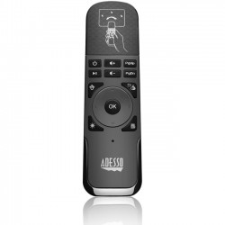 Adesso / ADS Technologies - WKB-4010UB - Adesso SlimTouch WKB-4010UB Universal Remote Control - For PC, Smart TV, Gaming Console, Projector, PlayStation, Xbox - 30 ft Wireless