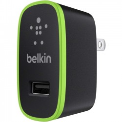 Belkin - F8J040ttBLK - Belkin BOOST UP Home Charger (12 Watt/2.4 Amp) - 12 W Output Power - 5 V DC Output Voltage - 2.40 A Output Current
