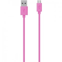 Belkin - F2CU012BT04-PNK - Belkin MIXIT Micro-USB to USB ChargeSync Cable - USB for Tablet PC, Digital Text Reader, Notebook, Speaker - 4 ft - 1 x Type A Male USB - 1 x Male Micro USB - Pink