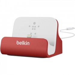 Belkin - F8J045BTRED - Belkin MIXIT ChargeSync Dock for iPhone 5 - Wired - iPod, iPhone - Charging Capability - Synchronizing Capability - Red