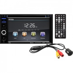 Boss Audio Systems - BVB9364RC - Boss Audio BVB9364RC Double-DIN 6.2 inch Touchscreen DVD Player Receiver, Bluetooth, Wireless Remote and Rear camera included - .