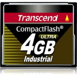 Transcend - TS4GCF100I - Transcend 4GB Ultra Speed Industrial Compact Flash (CF) Card - 4 GB
