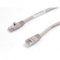 StarTech - M45PATCH6GR - StarTech.com Patch cable - RJ-45 (M) - RJ-45 (M) - 6 ft - UTP - ( CAT 5e ) - Gray - Category 5e - 6 ft - 1 x RJ-45 Male Network - 1 x RJ-45 Male Network - Gray