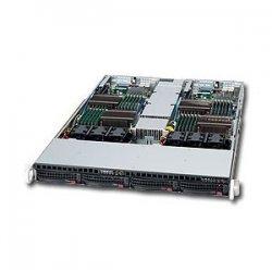 Supermicro - SYS-6016TT-IBQF - Supermicro SuperServer 6016TT-IBQF Barebone System - Intel 5500 - Socket B - Xeon (Quad-core), Xeon (Dual-core) - 48GB Memory Support - Gigabit Ethernet, Fast Ethernet - 1U Rack