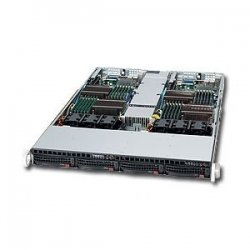 Supermicro - SYS-6016TT-TF - Supermicro SuperServer 6016TT-TF Barebone System - Intel 5500 - Socket B - Xeon (Quad-core), Xeon (Dual-core) - 48GB Memory Support - Gigabit Ethernet, Fast Ethernet - 1U Rack