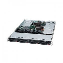 Supermicro - SYS-6016T-URF - Supermicro SuperServer 6016T-URF Barebone System - Intel 5520 - Socket B - Xeon (Quad-core), Xeon (Dual-core) - 96GB Memory Support - DVD-Reader (DVD-ROM) - Gigabit Ethernet, Fast Ethernet - 1U Rack
