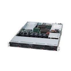 Supermicro - SYS-6016T-UF - Supermicro SuperServer 6016T-UF Barebone System - Intel 5520 - Socket B - Xeon (Quad-core), Xeon (Dual-core) - 96GB Memory Support - DVD-Reader (DVD-ROM) - Gigabit Ethernet, Fast Ethernet - 1U Rack