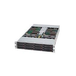 Supermicro - SYS-6026TT-BIBXF - Supermicro SuperServer 6026TT-BIBXF Barebone System - Intel 5500 - Socket B - Xeon (Quad-core), Xeon (Dual-core) - 48GB Memory Support - Gigabit Ethernet, Fast Ethernet - 2U Rack