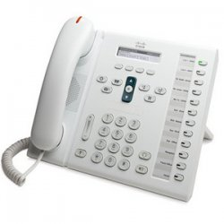 Cisco - CP-6961-W-K9= - Cisco 6961 Unified IP Phone - 1 x RJ-9 Headset, 2 x RJ-45 10/100Base-TX PoE - 12Phoneline(s) - Desktop, Wall-mountable