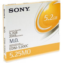 "Plasmon - EDM5200CWW - Sony 5.25"" Magneto Optical Media - 5.2GB - 8x"