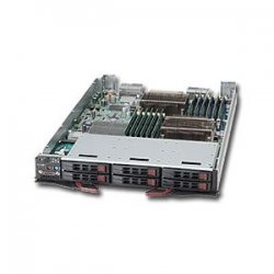 Supermicro - SBI-7126T-S6 - Supermicro SuperBlade 7126T-S6 Barebone System - Intel 5500 - Socket B - Xeon (Quad-core) - 96GB Memory Support - Gigabit Ethernet - Blade