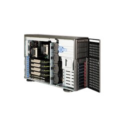 Supermicro - SYS-7046GT-TRF-TC4 - Supermicro SuperServer 7046GT-TRF-TC4 Barebone System - 4U Tower - Intel 5520 Chipset - Socket B LGA-1366 - 2 x Processor Support - Black - 96 GB DDR3 SDRAM DDR3-1333/PC3-10600 Maximum RAM Support - Serial ATA/300 RAID