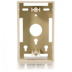 C2G (Cables To Go) - 03838 - C2G Single Gang Wall Box - Ivory - 1-gang - Ivory