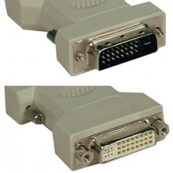 Tripp Lite - P118-000 - Tripp Lite DVI-I to DVI-D Dual Link Video Cable Adapter (F/M) - 1 x DVI-D Male Digital Video - 1 x DVI-I Female Video - Beige