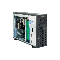 "Supermicro - SYS-7046A-HR+F - Supermicro SuperServer 7046A-HR+F - Server - tower - 4U - 2-way - RAM 0 MB - SATA - hot-swap 3.5"" - no HDD - MGA G200eW - GigE - monitor: none"