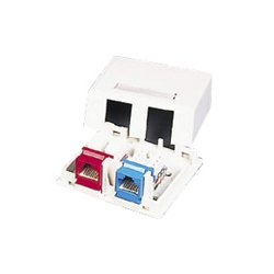 C2G (Cables To Go) - 03833 - C2G 2-Port Keystone Jack Surface Mount Box - White - 2 x Socket(s) - White