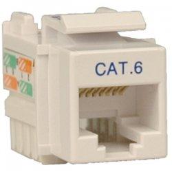 Tripp Lite - N238-001-WH - Tripp Lite Cat. 6/Cat. 5e 110 Punch Down Keystone Jack - RJ-45