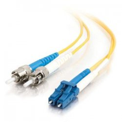 C2G (Cables To Go) - 37474 - C2G-1m LC-ST 9/125 OS1 Duplex Singlemode PVC Fiber Optic Cable - Yellow - Fiber Optic for Network Device - LC Male - ST Male - 9/125 - Duplex Singlemode - OS1 - 1m - Yellow