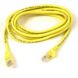 Belkin / Linksys - A3L791-30-YLW-S - Belkin Cat5e Patch Cable - RJ-45 Male - RJ-45 Male - 30ft - Yellow