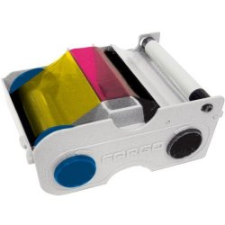 Fargo / HID Global - 044270 - Ymcko Starter Cartridge W/cleaning Roller: Full-color Ribbon With Resin Black An