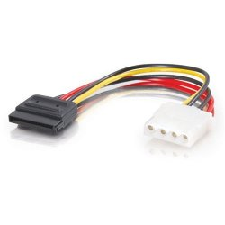 C2G (Cables To Go) - 10150 - C2G 6in 15-pin Serial ATA Female to LP4 Female Power Cable - 6""