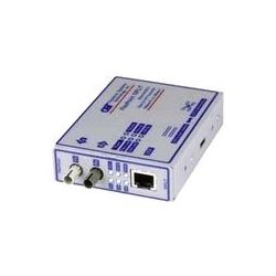 Omnitron - 4303-1 - FlexPoint 10Mbps Ethernet Fiber Media Converter RJ45 SC Multimode 2km - 1 x 10BASE-T; 1 x 10BASE-FL; US AC Powered; Lifetime Warranty