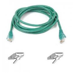 Belkin / Linksys - A3L791-10-GRN-S - Belkin - Patch cable - RJ-45 (M) to RJ-45 (M) - 10 ft - UTP - CAT 5e - molded, snagless - green - B2B - for Omniview SMB 1x16, SMB 1x8, OmniView IP 5000HQ, OmniView SMB CAT5 KVM Switch