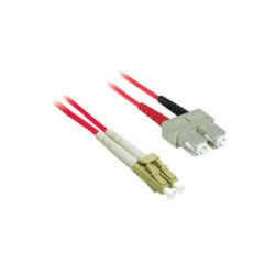C2G (Cables To Go) - 37359 - 10m LC-SC 50/125 OM2 Duplex Multimode PVC Fiber Optic Cable - Red - Fiber Optic for Network Device - LC Male - SC Male - 50/125 - Duplex Multimode - OM2 - 10m - Red