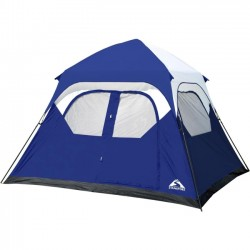 Stansport - 2270 - Stansport Instant Family Tent - Cobalt Blue, Gray, Black, White - Polyester Fabric
