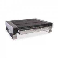 "DYMO - 1735709 - Rolodex Mesh Desktop Monitor Stand - 55 lb Load Capacity14.5"" Width - Black, Silver"