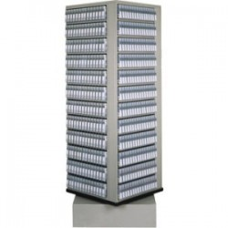 Fujifilm - 600004741 - Fujifilm Media Storage Rack - 672 x Digital Linear Tape (DLT) - 4 Tier(s) - 76 Height x 28 Width x 28 Depth - Floor - Carbon Steel