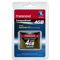 Transcend - TS4GCF100I-P - Transcend 4GB Indutrial CompactFlash (CF) Card - PIO Mode - 4 GB