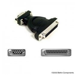 Belkin / Linksys - F2L087 - Belkin At Serial Adapter - Serial Adapter - Db-9 (m) - Db-25 (f)