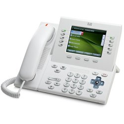 "Cisco - CP-8961-WL-K9= - Cisco Slimline Handset for IP Phone - 5"" Screen Size - USB - White"