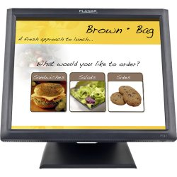 """Planar Systems - 997-5969-00 - Planar PT1745R 17"""" LCD Touchscreen Monitor - 5 ms - 5-wire Resistive - 1280 x 1024 - SXGA - Adjustable Display Angle - 16.7 Million Colors - 1,000:1 - 250 Nit - Speakers - USB - VGA - Black - RoHS - 3 Year"""