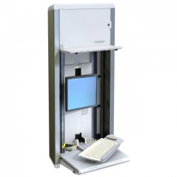 Ergotron - 60-595-062 - Ergotron StyleView 60-595-062 VL Enclosure - 33 lb Load Capacity - 60.6 Height x 27.2 Width x 6.8 Depth