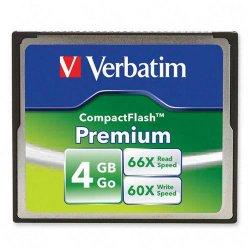 Verbatim / Smartdisk - 95500 - Verbatim 4GB 66X Premium CompactFlash Memory Card - 1 Card/1 Pack - Retail