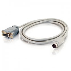 C2G (Cables To Go) - 25041 - C2G 6ft DB9 Female to 8-pin Mini Din Male Adapter Cable - 6 ft - DB-9 Female Serial - Mini-DIN Male Video - Gray