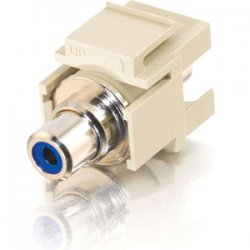 C2G (Cables To Go) / Legrand - 03341 - C2G Snap-In Blue RCA F/F Keystone Insert Module - Ivory - 1 x RCA Female - Ivory
