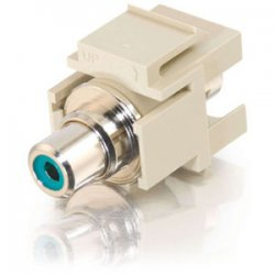 C2G (Cables To Go) / Legrand - 03343 - C2G Snap-In Green RCA F/F Keystone Insert Module - Ivory - 1 x RCA Female - Ivory