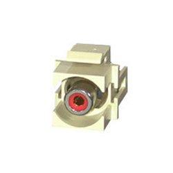 C2G (Cables To Go) / Legrand - 28742 - C2G Snap-In Red RCA F/F Keystone Insert Module - Ivory - RCA