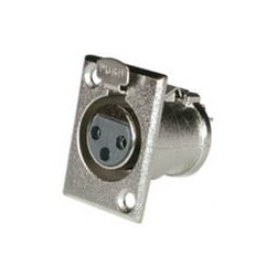 C2G (Cables To Go) / Legrand - 40663 - C2G XLR Female Panel-Mount Connector - XLR