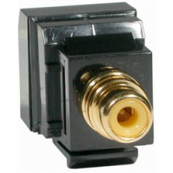 C2G (Cables To Go) / Legrand - 41160 - C2G RCA Female to RJ45 Female Video Balun - Keystone Style - 1 x RCA Female Video - 1 x RJ-45 Female Network - Black